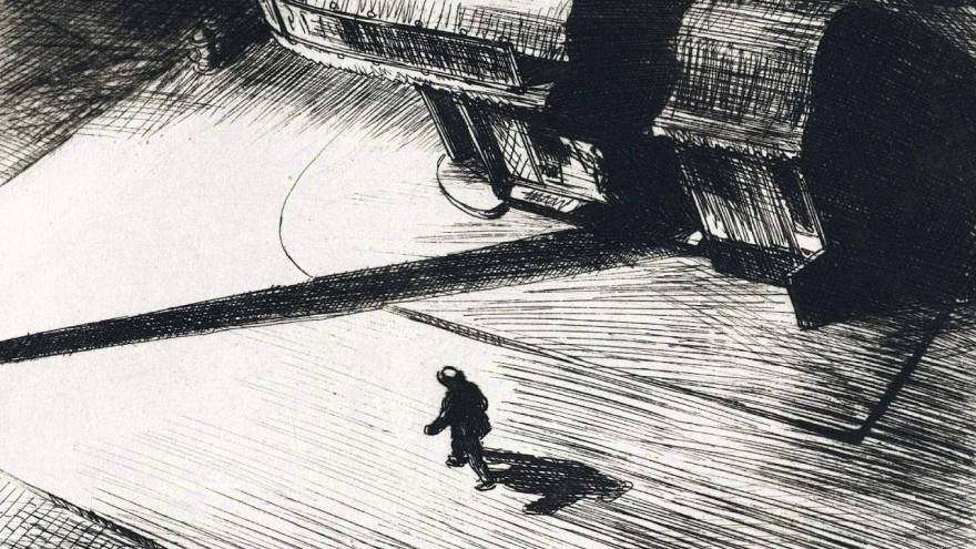 Night Shadow, Edward Hopper (1921),